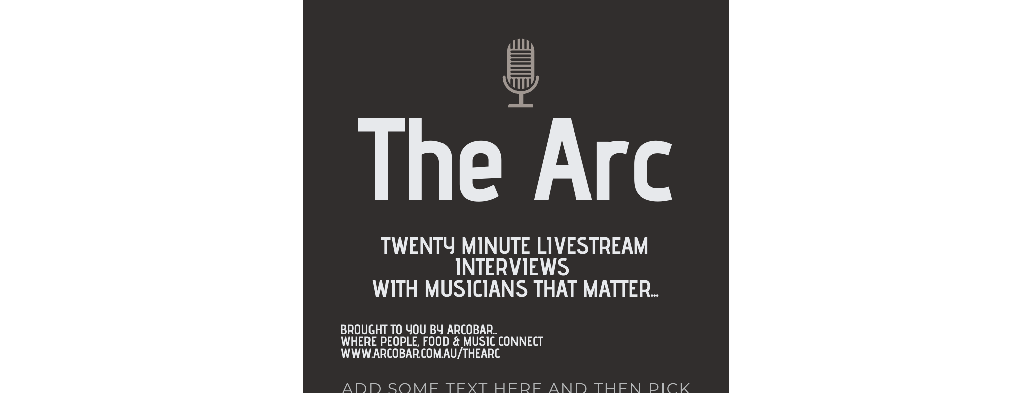 The Arc - 20 Minute Livestream Interviews With Great Musicians
