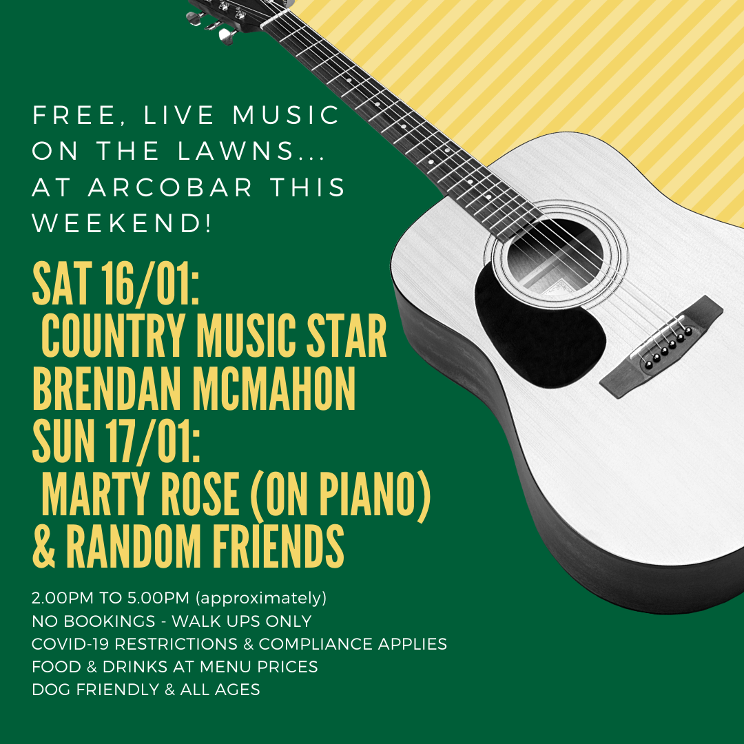 Free, Live & Acoustic Music On The Lawns - This Saturday & Sunday Afternoon