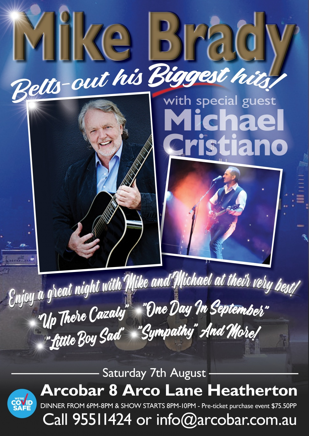 Mike Brady - His Stories & His Songs - Special Grand Final Week Dinner & Show