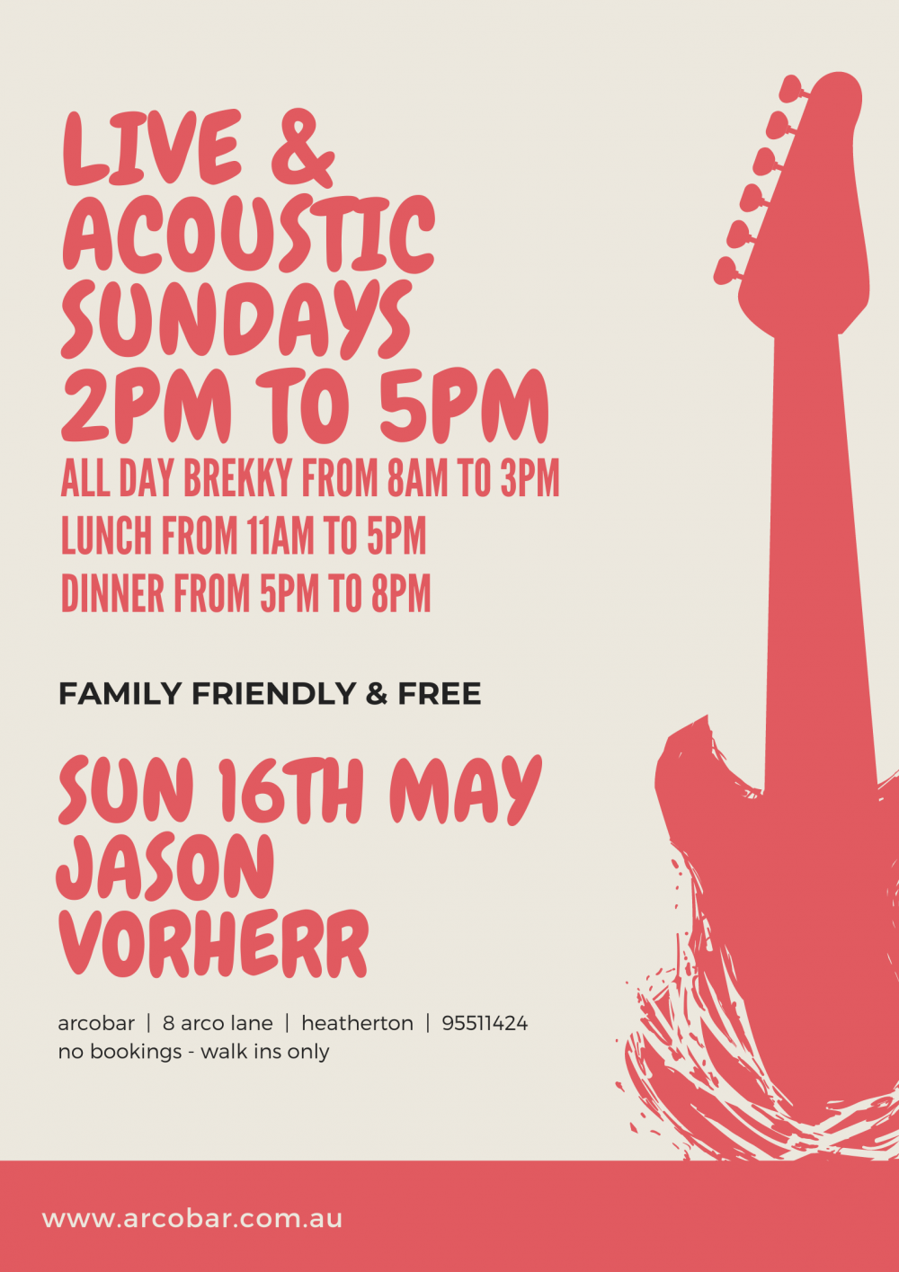 Jason Vorherr (Daryl Braithwaite Band), Solo, Free, Live & Acoustic - Sunday Session