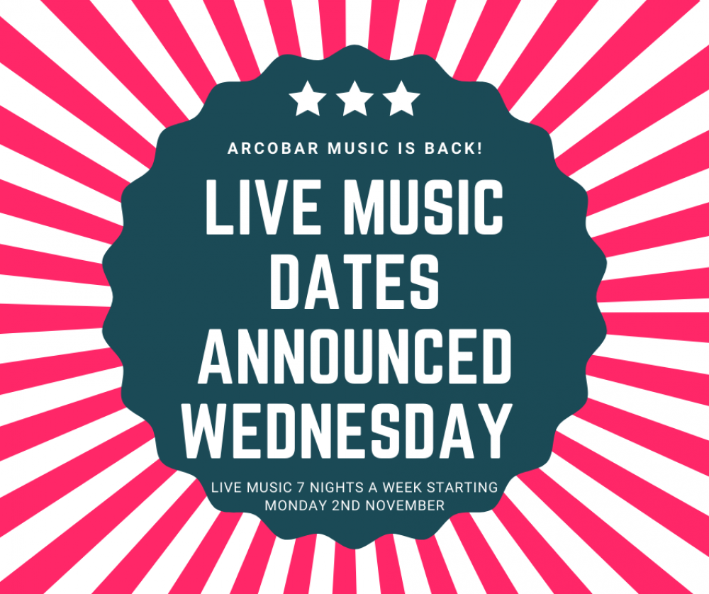 LIVE MUSIC IS BACK AT ARCOBAR!