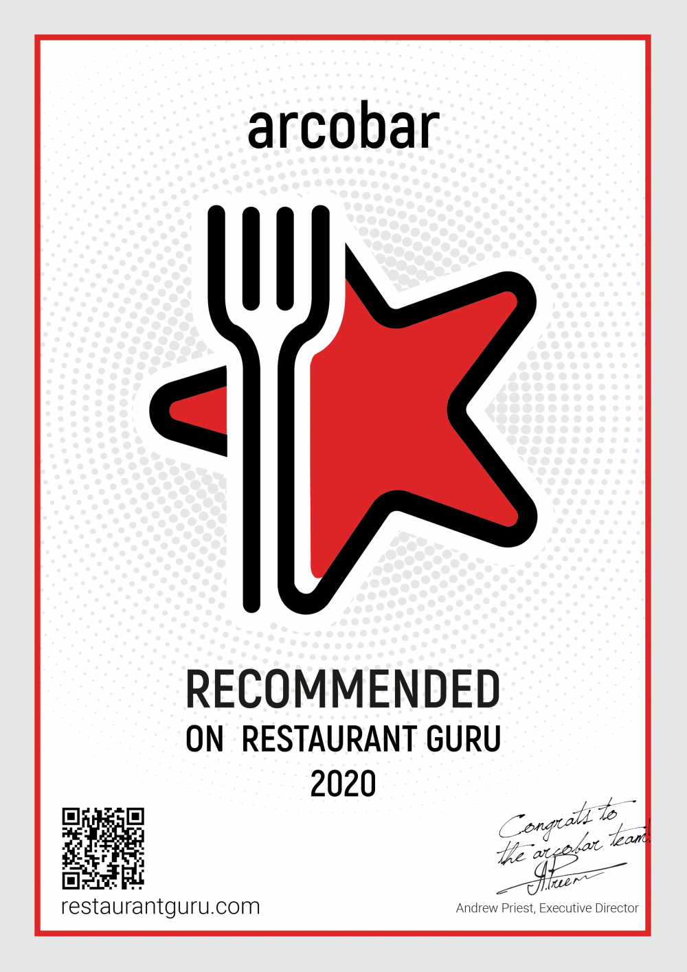 Voted Best Cafe & Most Recommended Restaurant 2020