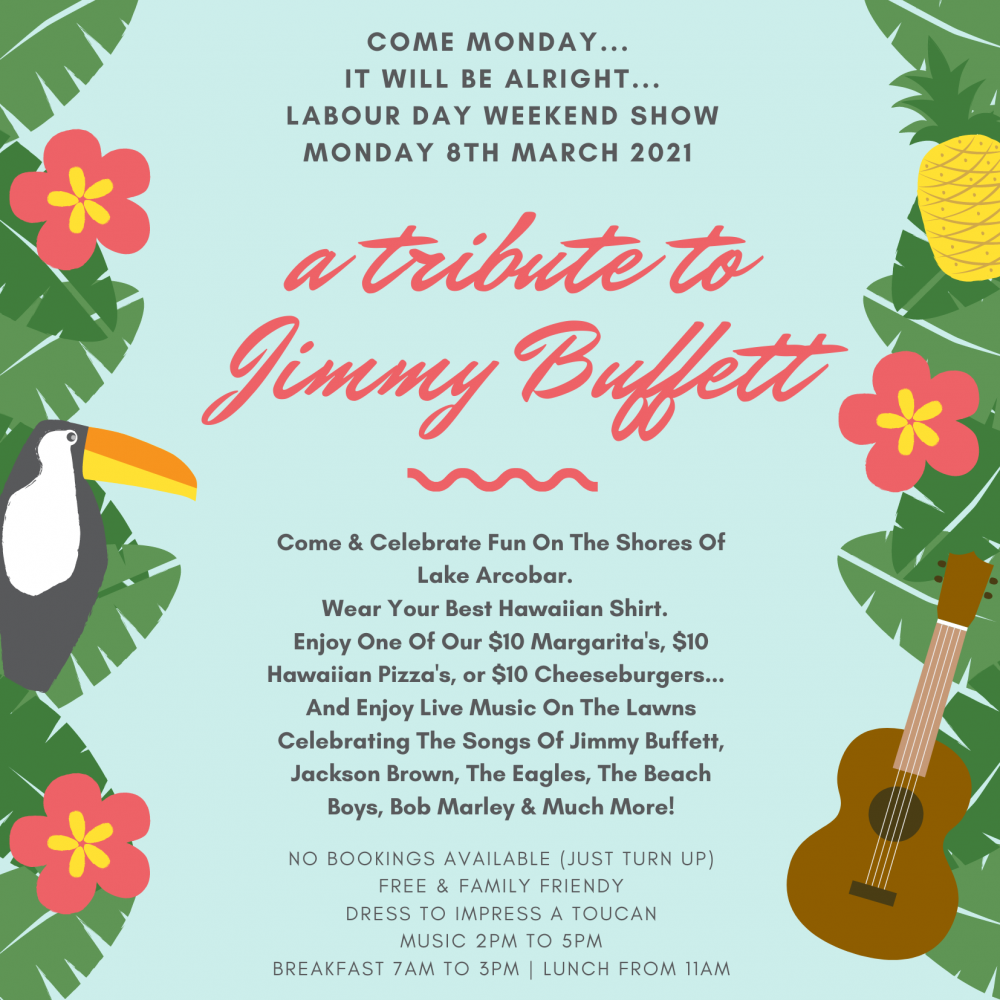 LABOUR DAY MONDAY - Celebrating The Songs Of JIMMY BUFFETT - FREE & FAMILY FRIENDLY