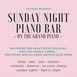 SUNDAY NIGHT PIANO BAR - Every Sunday Night to Sunday 26th September